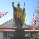 statue of king kamehameha big island