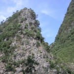 Rocky cliff on the Li River, China