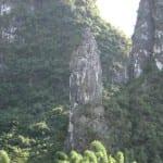 Rock pillars along the Li River, China