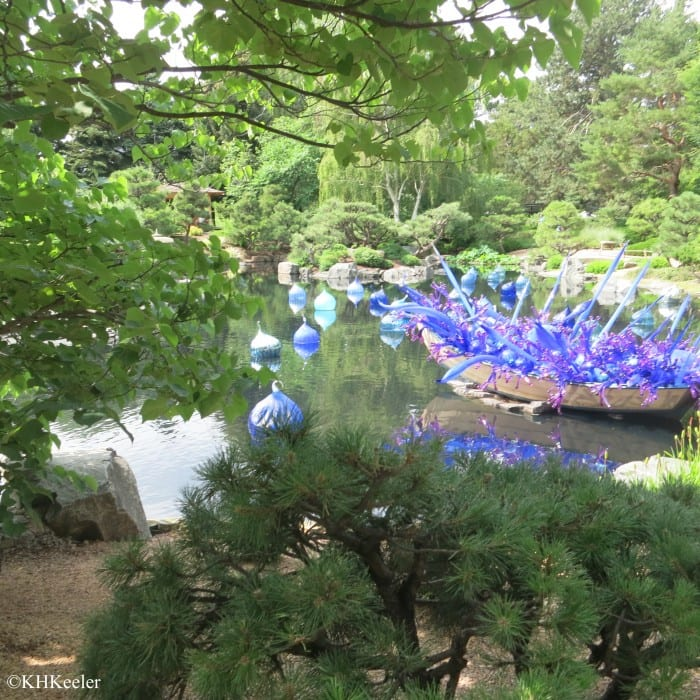 Chiluly Glass in Japanese Garden, Denver Botanic Garden